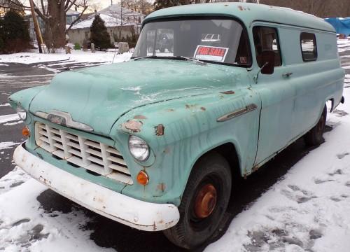1956 chevy panel truck chevrolet chevy trucks for sale old trucks antique trucks. Black Bedroom Furniture Sets. Home Design Ideas