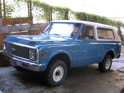 1972 Chevy Blazer on 1972 chevrolet 4x4