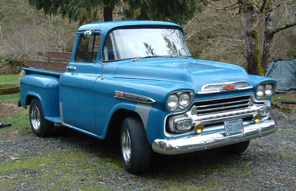 1959 chevy apache 3100 chevrolet chevy trucks for sale old trucks antique trucks. Black Bedroom Furniture Sets. Home Design Ideas