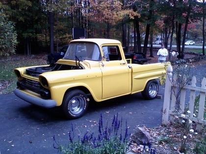 1958 chevy apache 3100 fleetside chevrolet chevy trucks for sale old trucks antique. Black Bedroom Furniture Sets. Home Design Ideas
