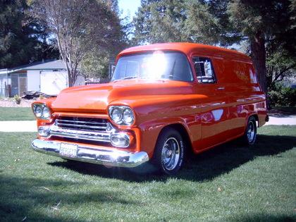 1958 chevy panel chevrolet chevy trucks for sale old trucks antique trucks vintage. Black Bedroom Furniture Sets. Home Design Ideas