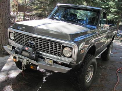 1972 chevy c 10 4x4 short bed chevrolet chevy trucks for sale old trucks antique trucks. Black Bedroom Furniture Sets. Home Design Ideas