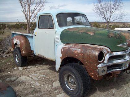 1954 chevy 1 2 ton pickup chevrolet chevy trucks for sale old trucks antique trucks. Black Bedroom Furniture Sets. Home Design Ideas