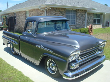 1958 chevy apache 3100 chevrolet chevy trucks for sale old trucks antique trucks. Black Bedroom Furniture Sets. Home Design Ideas