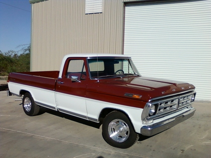 1971 Ford F100 2 on 1972 gmc pickup truck