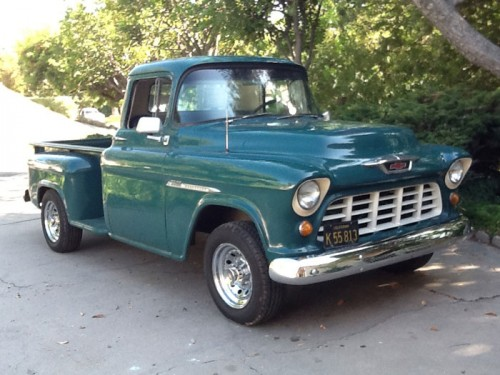 1955 chevy 3600 pickup runs good chevrolet chevy trucks for sale old trucks antique. Black Bedroom Furniture Sets. Home Design Ideas