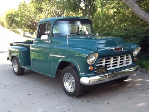 1955 Chevy 3600 Pickup - Runs Good - Chevrolet - Chevy Trucks for Sale | Old Trucks, Antique ...