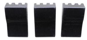 64 – 66 Chevy / GMC Truck Heater Control Knob Set – Black – Deluxe Heater