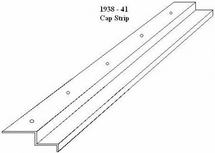 1938 – 41 Ford Truck Bedwood Cap Strip – Steel