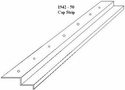 1942 – 50 Ford Truck Bedwood Cap Strip – Stainless Steel