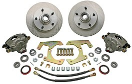 "1948-52 – 5 on 4-1/2"", Complete Disc Brake Kit With Booster Kit"