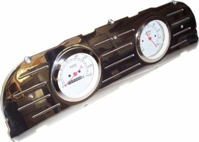 60-63 Chevy Polished Aluminum Dash Panel Dual 3-3/8″  Gauges