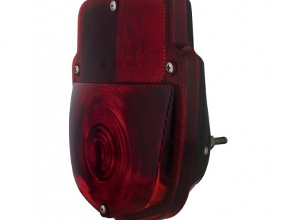 53-56 Ford Taillight Assembly – LH – Black Body – Plain Lens