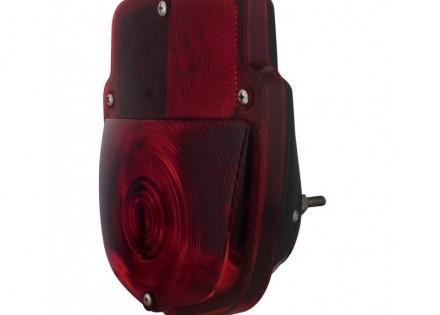 53-56 Ford Taillight Assembly – RH – Black Body – Plain Lens