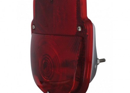 53-56 Ford Taillight Assembly – LH – Chrome Body