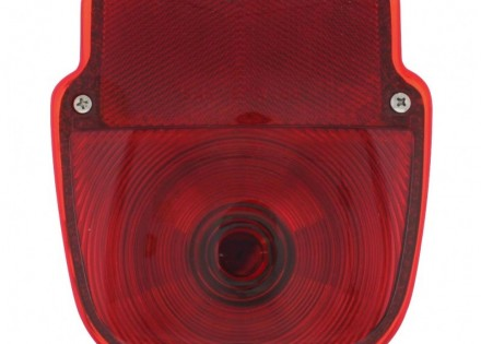 53-56 Ford Taillight Assembly – RH – Stainless steel – Plain Lens