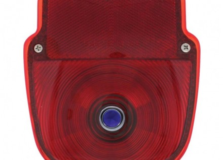 53-56 Ford Taillight Assembly – RH – Stainless Steel – Blue Dot