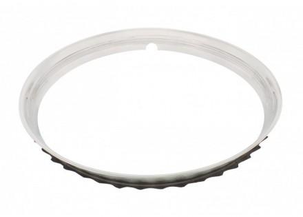Universal Wheel Trim Ring – 15″ – Polish SS – Ribbed
