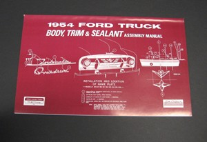 1954 Ford Truck Body/Interior Assembly Manual