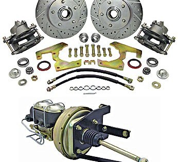 1955 – 1959 Chevy / GMC Front Disc Brake Kit – 6 Lug – With Hubs & Under Floor Brake Booster