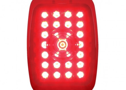 40 – 53 Chevy / GMC LED Tail Light Lens – LH – Red