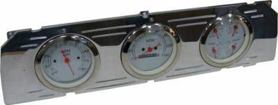 64-66 Chevy Polished Aluminum Dash Panel Triple 3-3/8″  Gauges