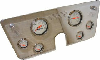 67-72 Chevy Polished Aluminum Dash Panel – 6 Gauges – Two 3-3/8″ and Four 2-1/16″