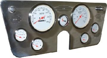 67-72 Chevy Polished Aluminum Dash Panel – 6 Gauges – Two 5″ and Five 2-1/16″