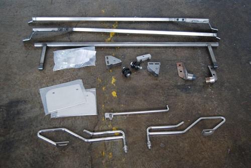 53-56 cpp ford reverse flip hood tilt kit - steel