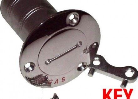 Kustom Kap Fuel Filler – Polished Stainless Steel – Flush Mount